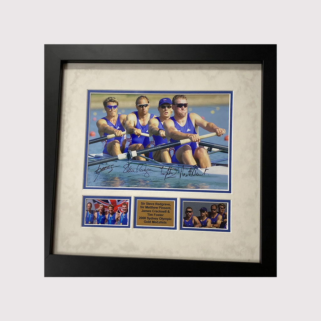 Olympics 2000 Gold Medal Rowing Winners Signed Photo in Frame