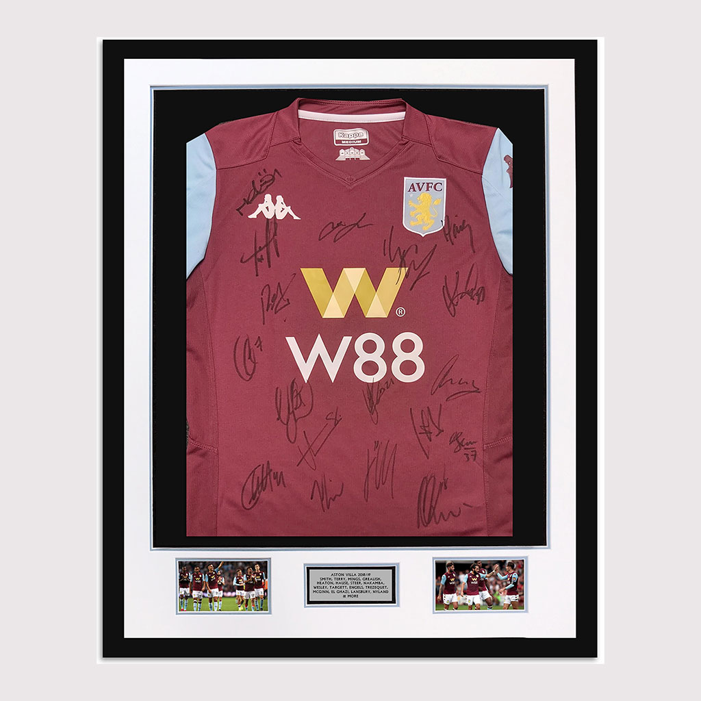 Aston Villa 18/19 Signed Shirt in Frame