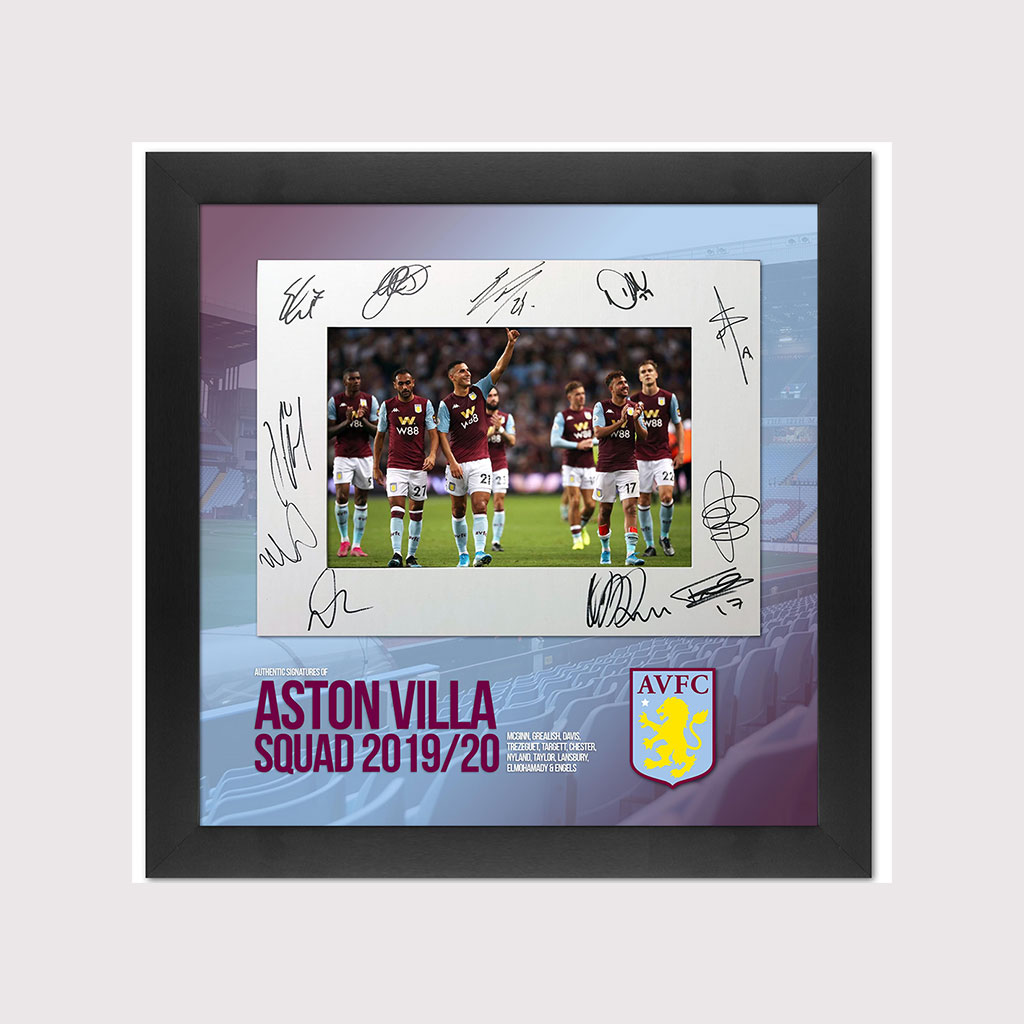 Aston Villa 2019/20 Selected Players in Frame
