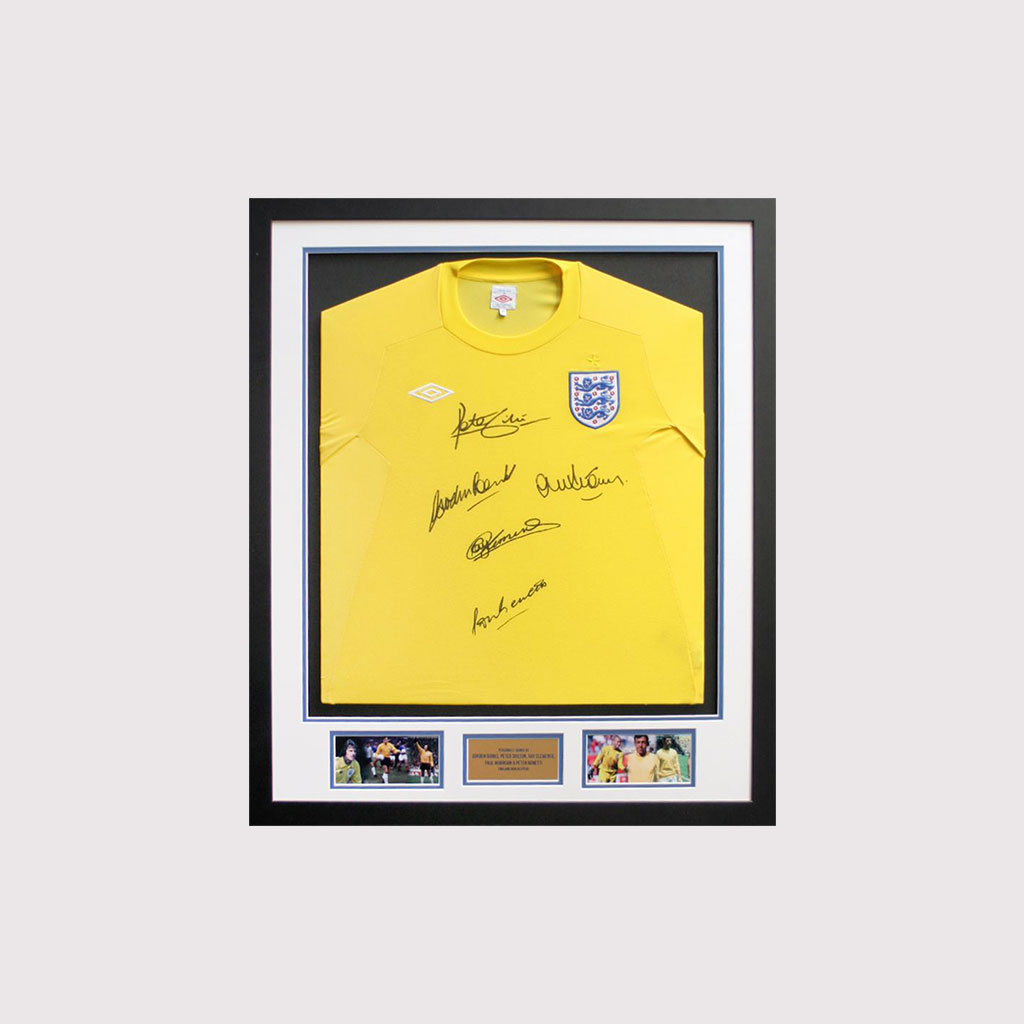 England Goalkeepers Signed Shirt in Frame