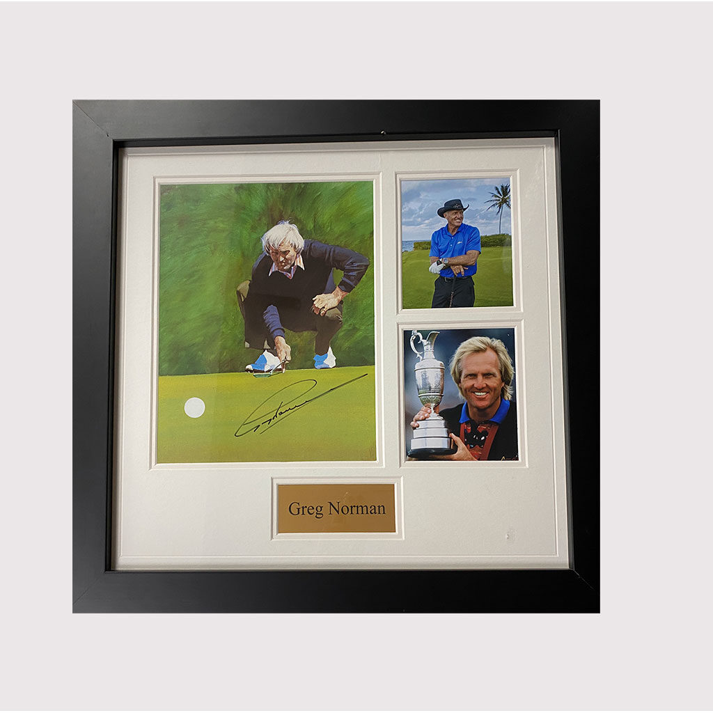 Greg Norman Signed Photo in Frame
