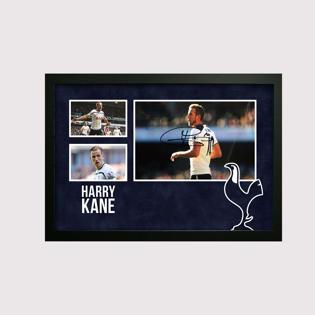 Harry Kane Signed Photo in Decorative Spurs Frame