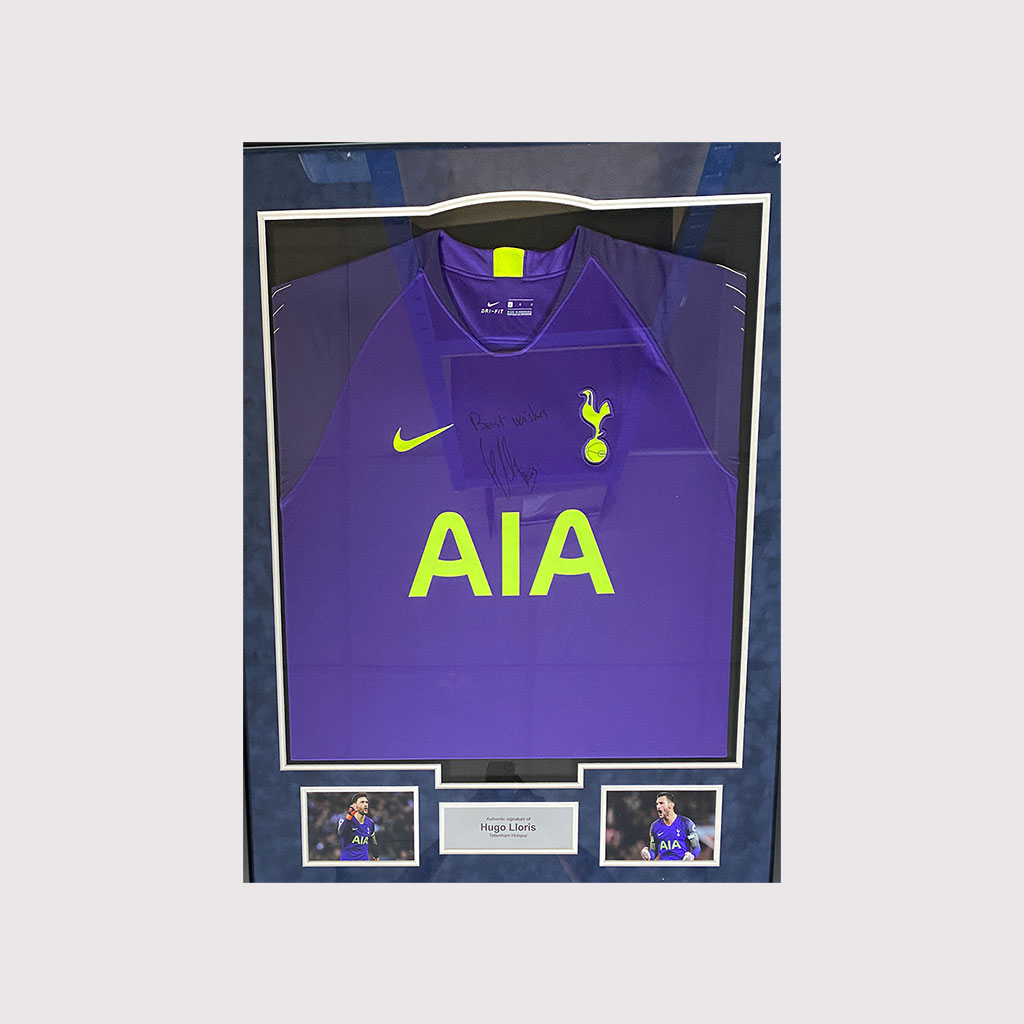 Hugo Lloris Signed Shirt in Frame