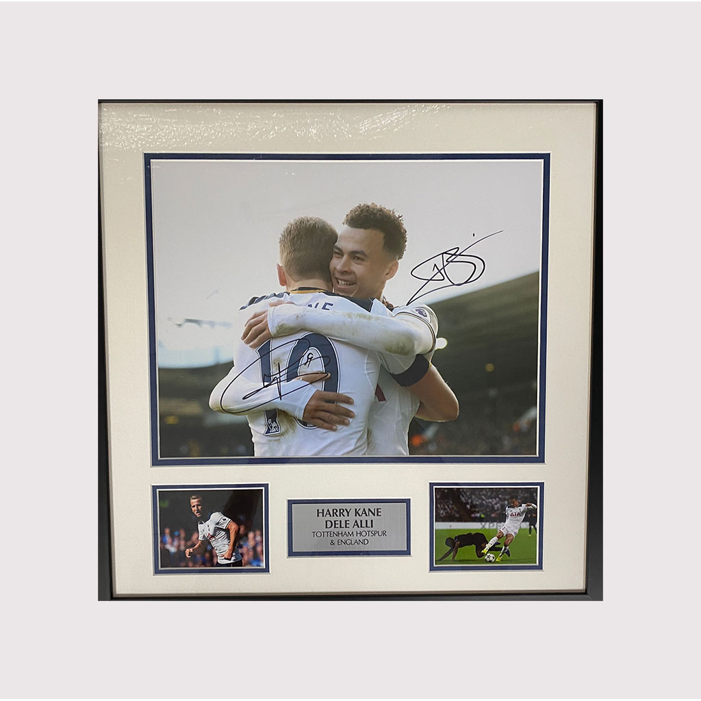 Harry Kane & Dele Alli Signed Celebration Photo in Frame