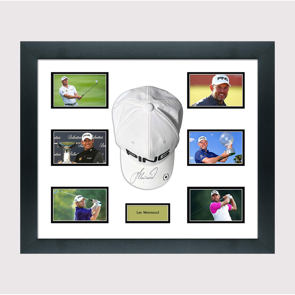 Lee Westwood Signed Cap in Frame