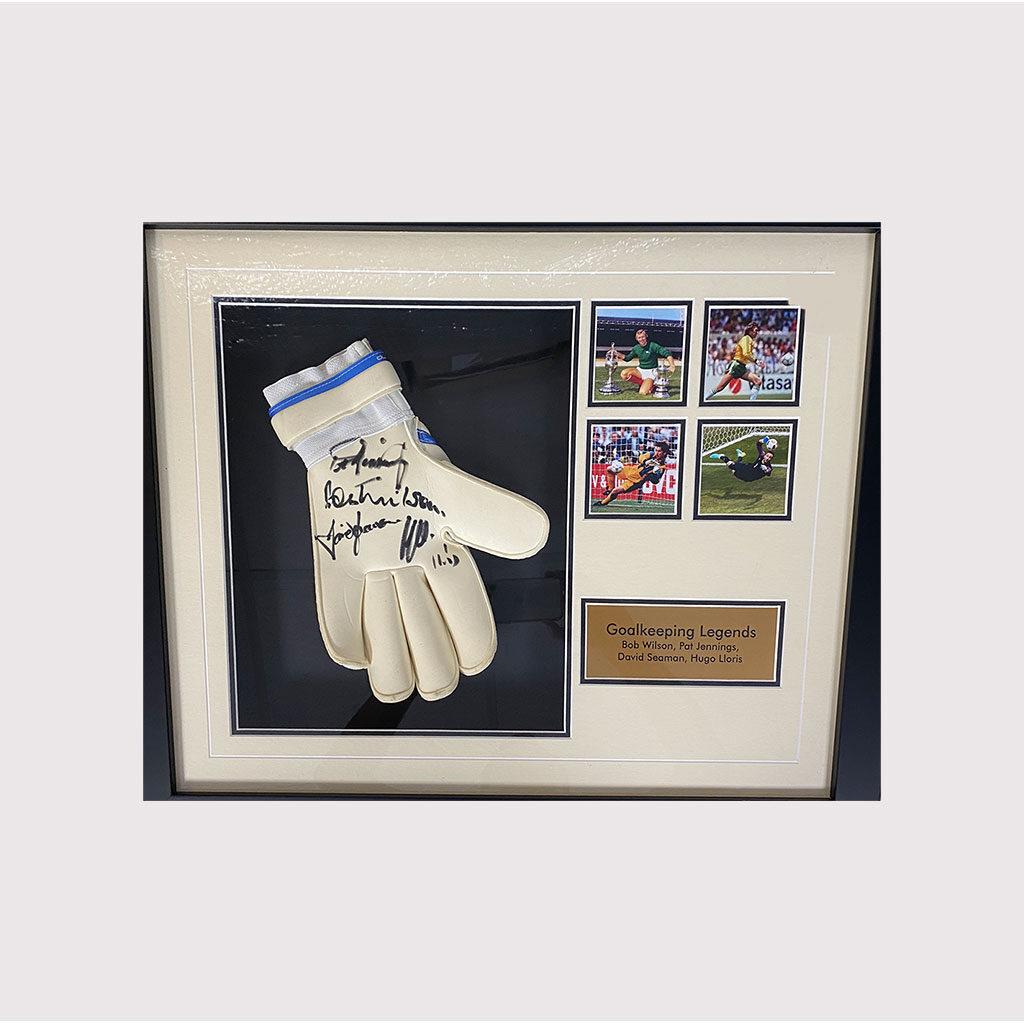 Lloris Seaman Jennings Wilson Signed Glove