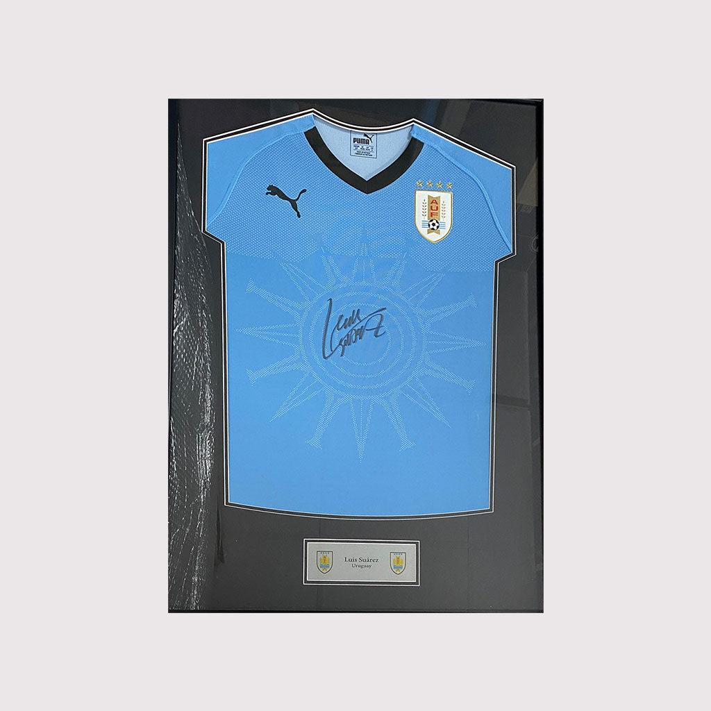 Luis Suarez Uruguay Signed Shirt in Frame