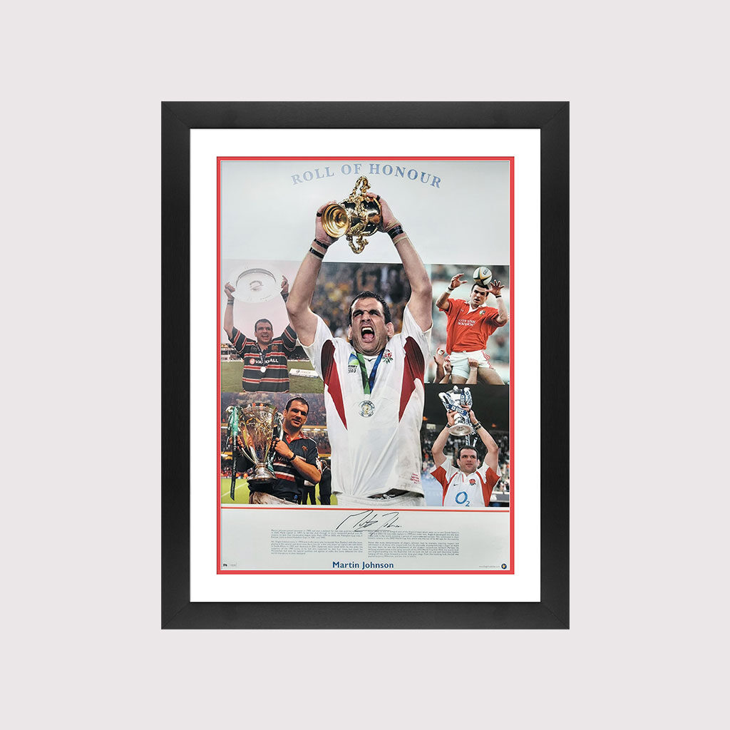 Martin Johnson Roll of Honour Signed in Frame