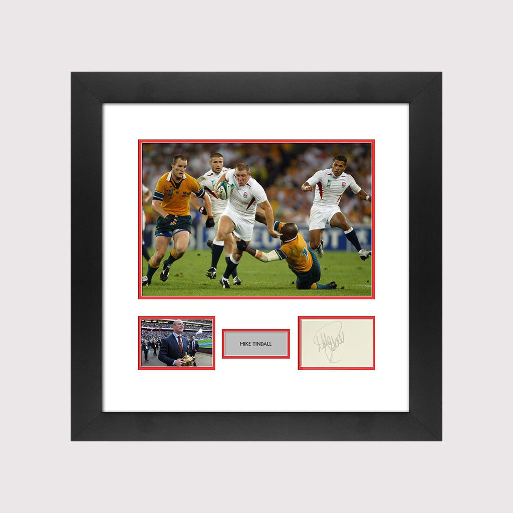 Mike Tindall Signed Card in Frame