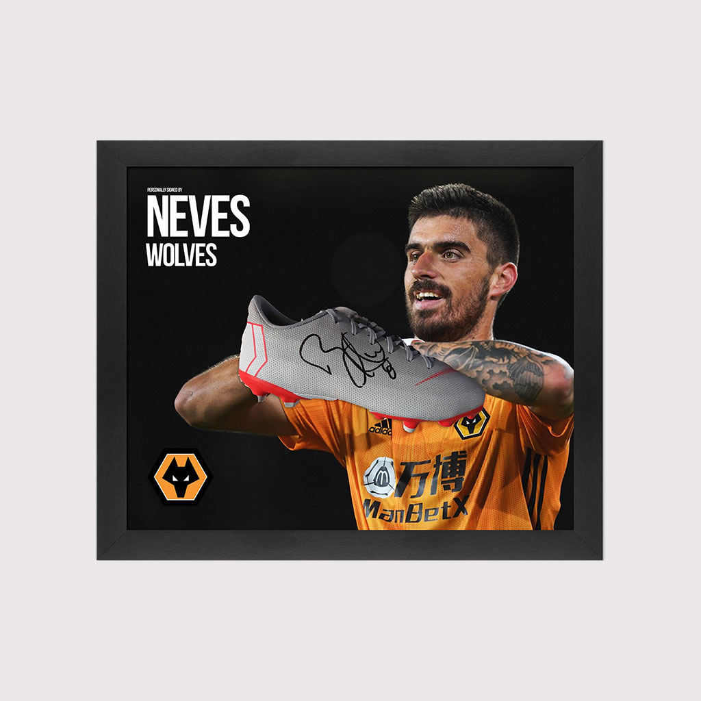 Ruben Neves Signed Boot in Frame