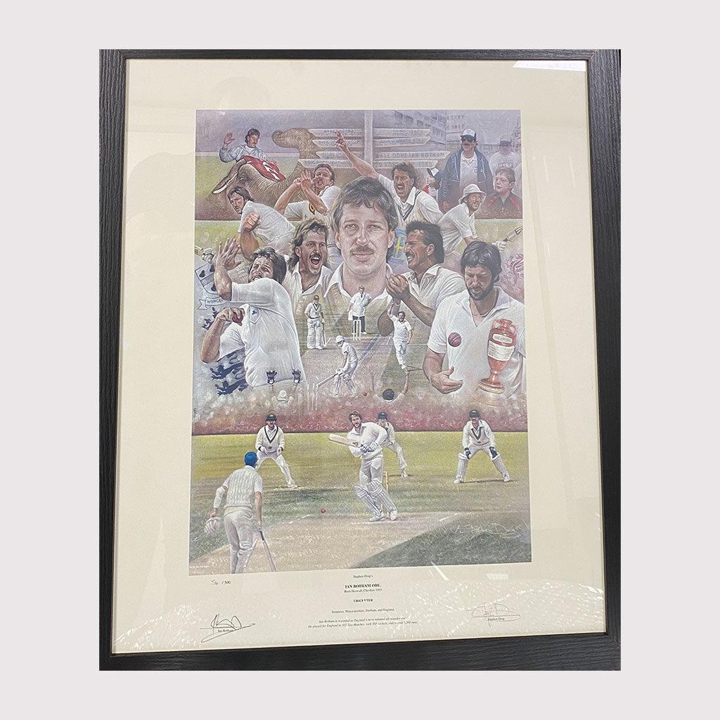 Sir Ian Botham Artist Impression in Frame