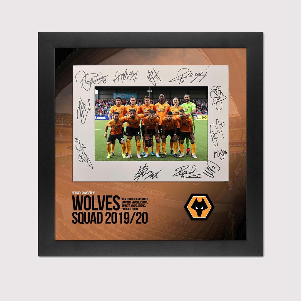 2019/20 Wolves Signed Squad Photo in Black Frame