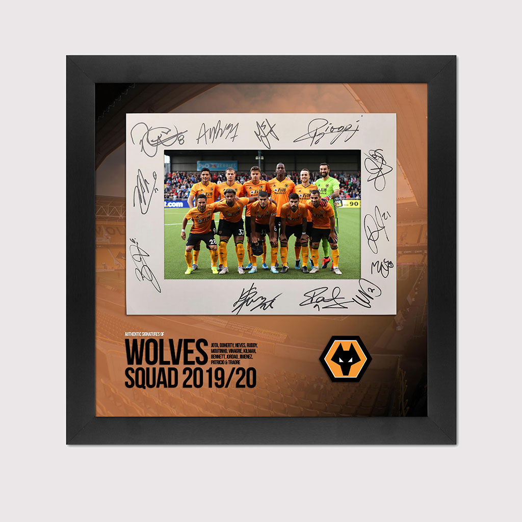 2019/20 Wolves Signed Squad Photo in Black Frame