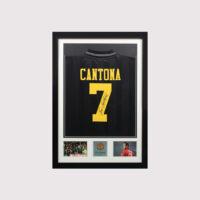 Cantona Signed Manchester United away Shirt Framed